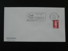 Résistance André Boulloche Compagnon De La Libération Montbeliard 1993 Flamme Sur Lettre Postmark On Cover 25 Doubs - WW2