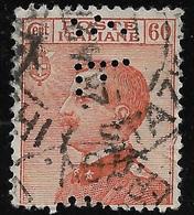 PERFIN - ITALIA REGNO - 1926: Effigie Di V. Emanuele III°  - Valore Usato Da 60 C. (PERFIN) - In Buone Condizioni. - Perforiert/Gezähnt