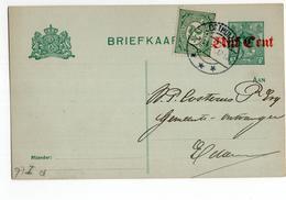Osthuizen - Edam - O Weg Gevallen! Oosthuizen Langebalk 1921 Bijfrankering - Postal History