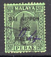 Malaya Japanese Occupation 1942 50c Dai Nippon On Perak, Used, SG J251 - Japanese Occupation