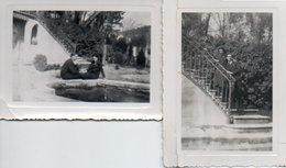 Gr03V  Lot De 2 Photos Prises Dans Une Proprité à Riez (04) En 1938 - Autres Communes