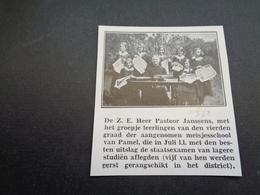 """Origineel Knipsel ( 3322 ) Uit Tijdschrift """" Ons Volk """"  1932  :  Pamel - Vieux Papiers"""