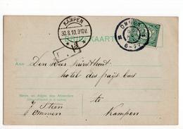 Ommen Grootrond - Kampen Langebalk 3 - 1910 - Marcophilie