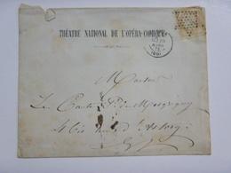 Enveloppe, En-tête Du Théatre Opéra Comique - 1873 - Timbre Cérès Bistre 15c (N°55 YT) - Cachet étoile - 1871-1875 Ceres