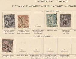 France Frankreich Kolonien. Allgemeine Ausgaben, Siehe 3 Scans, Gestempelt, Eine * - Frankreich (alte Kolonien Und Herrschaften)
