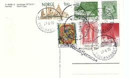 NORVEGE 1975: CP ''Vue Du Cap Nord'' , TTB CAD Du Spitzberg Sur Divers TP - Norvège