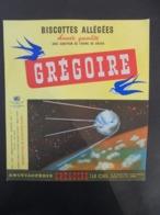 AFFICHETTE, COMME UN BUVARD - BISCOTTES GREGOIRE - LE CIEL N° 8  - SPOUTNIK - Unclassified