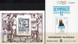 Imperf.EXPO 2006 Spanien 3081B+Bl.159SD ** 40€ Sagrada Hoja Pruebas Architectur Bloc Olympic Black Sheets Bf Espana - Probe- Und Nachdrucke