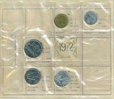 REPUBBLICA ITALIANA  ANNO 1972 - 5 VALORI FDC - SERIE PRIVATA - 1946-… : République