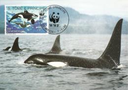 1992 - SAO TOME E PRINCIPE -  Killer Whale -  Orque Pseudorca - Sao Tome And Principe