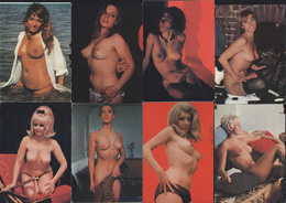 11 CP Femme Sexy Pin-Up Pin Up Nude Nue Daily Girl Press Berta Bibi Coco Pamela Kim Greta Grit Nora Uta Rossana - Vintage Women (1941-1960)