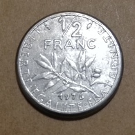 RARE - France - Pièce De 1/2 Franc Semeuse 1976 Fautée - Errors & Oddities