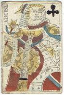 CARTE A JOUER ANCIENNE XVIII ème 18 ème - Playing Card - Dame De Trèfle - ARGINE - Kartenspiele (traditionell)