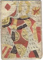 CARTE A JOUER ANCIENNE XVIII ème 18 ème - Playing Card - Dame De Carreau - RACHEL - Kartenspiele (traditionell)