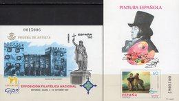 Imperf.EXPO 1997 Spanien 3286B+Bl.71SD ** 30€ Denkmal Goya Gemälde Hoja Pruebas S/s Philatelics Black Sheets Espana - Probe- Und Nachdrucke