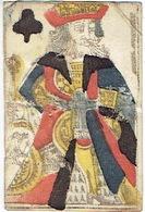 CARTE A JOUER ANCIENNE XVIII ème 18 ème - Playing Card - Roi De Trèfle - Kartenspiele (traditionell)