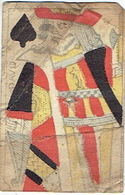 CARTE A JOUER ANCIENNE XVIII ème 18 ème - Playing Card - Roi De Pique - DAVID - Cartes à Jouer Classiques