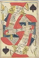 CARTE A JOUER ANCIENNE XVIII ème 18 ème - Playing Card - Valet De Pique - Playing Cards (classic)
