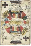 CARTE A JOUER ANCIENNE XVIII ème 18 ème - Playing Card - Valet De Trèfle - NALINNE A NAMUR - Kartenspiele (traditionell)