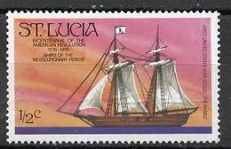 Sainte Lucie - Saint Lucia 1976 Y&T N°378 - Michel N°372 *** - 0,5c Bateau Le Hanna - St.Lucia (...-1978)