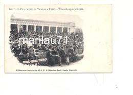 P1129 Lazio ROMA Istituto Centrale Terapia Fisica MINISTRO BACELLI Non Viaggiata Primi '900 Testo Lungo KINESITERAPICO - Altri