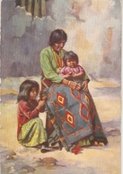 """""""A Navajo Indian  Sqaw And Chidren"""" Tuck Oikette Native Arizonians Ser. PC # 9283 - Tuck, Raphael"""