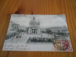 VARSOVIE WARSZAWA EGLISE SAINT ALEXANDRE SEPTEMBRE 1909 AVEC ARRIVEE POLOGNE RUSSE - Polen