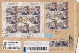 Serbia 2016 : Fossil, Geology, Paleontologist,  Jovan M. Žujović, Serbian Geological Society,  Used Registered  Letter - Fossils