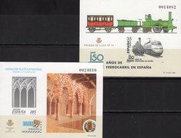 Imperf.EXPO 1999 Spanien 3427B+Bl.74SD ** 30€ Palast Lok Hoja Pruebas Architectur Ss Philatelic Black Sheets Espana - Probe- Und Nachdrucke