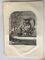 Gravure Vase Artistique De Lepautre. Regne De Louis XIV - Vieux Papiers