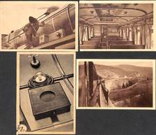 Lot 4 Cartes Collection Train Radio Trein Collectie (Amblève, Pendant L'arrêt, Animée) - Treni