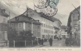 74 CHAMONIX MONT BLANC CAFE NATIONAL HOTEL DE PARIS HOTEL DES ALPES - Chamonix-Mont-Blanc