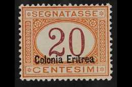 ERITREA POSTAGE DUE 1920-26 (overprint At Base) 20c Magenta And Orange (Sass 16, Mi 3 II, SG D55), Well Centred, Very Fi - Unclassified