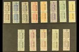 JUBALAND (OLTRE GIUBA) PARCEL POST 1925 Overprints Complete Set (Sassone 1/13, SG P16/28), Never Hinged Mint Horizontal  - Unclassified