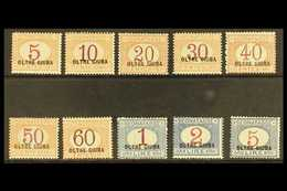 """JUBALAND POSTAGE DUES 1925 """"OLTRE GIUBA"""" Overprints Complete Set (Sassone 1/10, SG D29/38), Never Hinged Mint, Very Fres - Unclassified"""