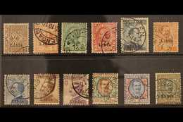 LIBYA 1912-15 Definitives Complete Set, Sass S. 1, Fine Used. (12 Stamps) For More Images, Please Visit Http://www.sanda - Unclassified