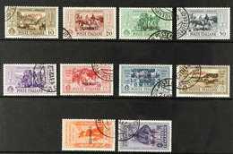 SCARPANTO 1932 Garibaldi Overprints Complete Set (SG 89/98 K, Sassone 17/26), Very Fine Cds Used, Fresh. (10 Stamps) For - Unclassified