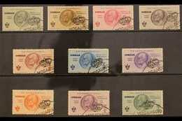 SOMALIA 1934 AIR Rome-Mogadishu Flight Set (Sass S. 45, SG 199/208), Very Fine Used. (10 Stamps) For More Images, Please - Unclassified
