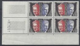 SERVICE N° 25 - Bloc De 4 COIN DATE - NEUF SANS CHARNIERE - 9/1/61 - Dienstpost