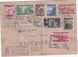 POLOGNE  GOUVERNEMEENT DE LONDRES 1943 LETTRE RECOMMANDEE CENSUREE DES FORCES DE LA MARINE AVEC CACHET ARRIVEE ABERDOUR - 1939-44: World War Two