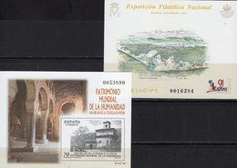 Imperf.EXPO 1991 Spanien 3496B+Bl.41SD ** 40€ Kloster Gemälde Hoja Pruebas Painting Bloc Church Black Sheets Espana - Fogli Ricordo