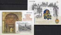 Imperf.EXPO 1993 Spanien 3495B+Bl.53SD ** 40€ Trommler Kloster Hoja Pruebas Architectur Bloc Black Sheets Bf Espana - Fogli Ricordo