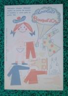 PLANCHE PUBLICITAIRE CHOCOLATS BOUQUET D'OR - DECOUPAGE - POUPEE - VETEMENTS -  DOCUMENT EFGE / VALENCIENNES - - Enfants
