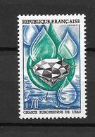 1969-charte De L'eau/YT 1612/neuf ** - Nuovi