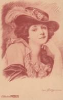 Illustrateur : GREUZE COLLECTION FUCOSINE BILINE -PORTRAT DE FEMME - (lot Pat 103/03) - Publicité