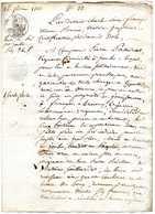 Manuscrit: Vente De Pré à JOUHE: Nataire  à DOLE: 1813 - Taxe 50c, Cachet à Froid. - Manuscripts