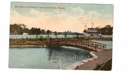 OTTAWA, Ontario, Canada, Driveway And Rideau Canoe Club House, 1913 Postcard - Ottawa