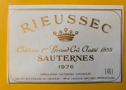 12627 - Château Rieussec 1976 Sauternes 1.46 L - Bordeaux