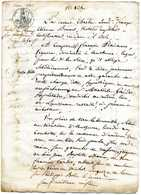 Manuscrit: Vente De Champ à AUTHUME: Nataire  à DOLE: 1813 - Taxe 50c, Cachet à Froid. - Manuscripts