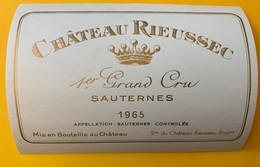 12632 - Château Rieussec 1965 Sauternes - Bordeaux